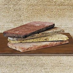 Vintage Brick Salvage slices reclaimed Chicago common brick into thin veneer for walls and flooring.  Laid as easily as tile, it brings a touch of authenticity to a traditional family room or a modern loft. Colors range from deep pink to pale buff. Wall tiles, 8 by 2½ inches (½ inch thick), around $12 per square foot; BrickSalvage.com