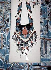 Australian Treasures  Australian aborigine fabric  was the inspiration for this necklace.