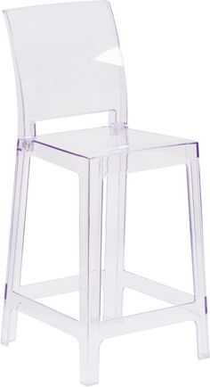 Ghost+Counter+Stool+in+Transparent+Crystal+with+Square+Back