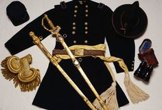 American Civil War Artifacts -                                                              General George Gordon Meade's uniform kit-He commanded the army at Gettysburg. His troops referred to him as a G..D.. googled- eyed snapping turtle...