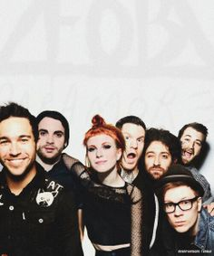 I imagine this is how Rachel and her band would look like...I made her sort of rocker after all. Fall Out Boy + Paramore, MONUMENTOUR 2014