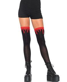 Mememall Fashion Dripping Blood Black Thigh High Socks Gothic Punk Costume Halloween Cosplay New Thigh High Socks, Knee Socks, Thigh Highs, Knee Highs, Punk Costume, Cosplay Costumes, Unicorn Costume, Halloween Cosplay, Halloween Outfits