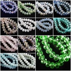 Pretty 50Pcs Faceted Glass Loose Crystal Beads Spacer Rondelle Findings 10x7mm OPAQUE!