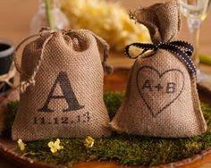 Rustic Bag Wedding Favors Coffee FavorsBurlap