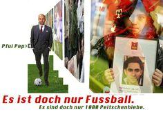Pfui Pep - Es ist doch nur Fussball. Es sind doch nur 1000 Peitschenhiebe. @FCBayern in Saudi Arabien.