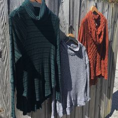 Indigo Avenue has plenty of comfortable sweaters to get you through fall and winter!  Free People: grey sweater = M rust sweater and green turtleneck = S  #rva #vcu #rvafashion #shoplocalrva