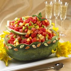 Watermelon Cascading Basket - Great for weddings and bridal showers