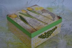 Spring Time Wooden Decoupage Tea Box/ Cookies by iLoveCreations