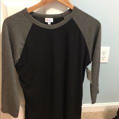 LLR Medium Randy - NWT Black and gray! New with tags LuLaRoe Tops Tees - Long Sleeve