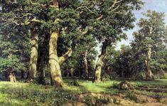 Oak Grove, Ivan Shishkin    Medium: oil,canvas