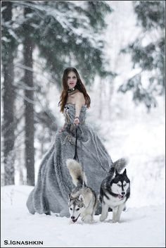 No sure if a fun fur ballgown is my style... but walking the dog before I go to the ball would be something I'd do...