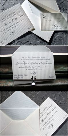 Letterpress Wedding Invitations by Smock