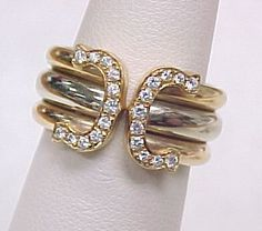 Tri color gold Cartier...with diamonds, yes please!  But in a size 6 3/4.
