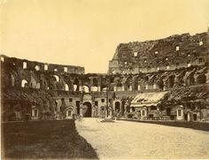Italie, Roma, Anfiteatro Vintage albumen print Tirage albuminé 20x25 Circa 1875