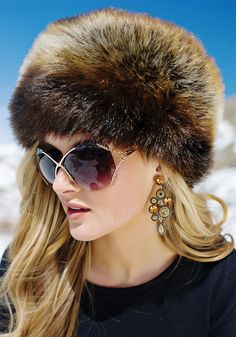 I don't know why I love this so much! Tanuki Faux Fur Russian Hat