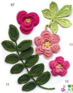 Crochet con flores hermosas