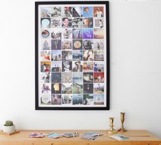 Make photos into poster collage | Gorgeous Ways To Display Your Favorite Travel Photos