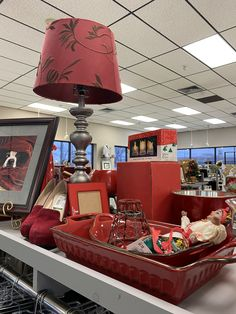 Red decor vignette spotted at Goodwill San Antonio. You never know what you'll find! #GoodFinds Plus all purchases support funding for vocational training, job placement, youth services and other community programs here in San Antonio and South Texas. Career Training, Goodwill Finds, Youth Services, South Texas, San Antonio, Vignettes, Thrifting, Community, Red