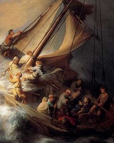 Christ In The Storm On The Sea Of Galilee Rembrandt art for sale at Toperfect gallery. Buy the Christ In The Storm On The Sea Of Galilee Rembrandt oil painting in Factory Price. All Paintings are Satisfaction Guaranteed Rembrandt, Bible Pictures, Jesus Pictures, Bible Images, Jesus Calms The Storm, Miracles Of Jesus, Calming The Storm, Sea Of Galilee, Biblical Art