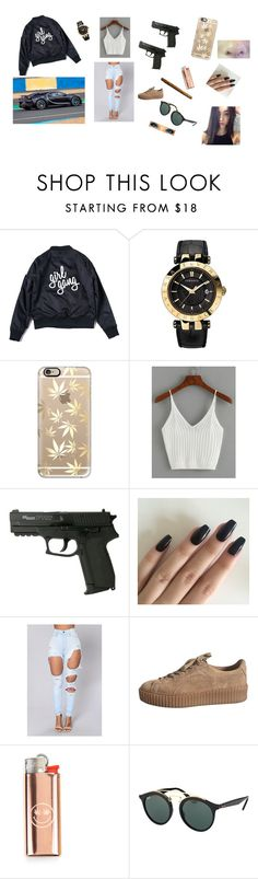 """""""Sem título #62"""" by laurafeldetonello on Polyvore featuring moda, Versace, Casetify, WithChic e Ray-Ban"""