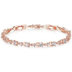 Bracelets BAMOER 6 Colors Luxury Rose Gold Plated Chain Link Bracelet for Women Ladies Shining AAA Cubic Zircon Crystal Jewelry -- This is an AliExpress affiliate pin. Details on product can be viewed on AliExpress website by clicking the image Gold Plated Bracelets, Crystal Bracelets, Link Bracelets, Crystal Jewelry, Bangle Bracelets, Gold Jewelry, Women Jewelry, Fashion Jewelry, Jewelry Accessories