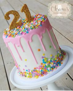 how to make a drip cake for a 21st birthday
