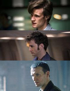 :) Doctors Nine, Ten, and Eleven and their thinky faces