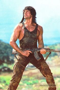Rambo: First Blood Part II - Publicity still of Sylvester Stallone
