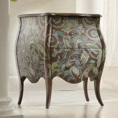 Hooker furniture Viera Paisley Bombe Chest with 2 Drawers - Rotmans - Occasional Cabinet