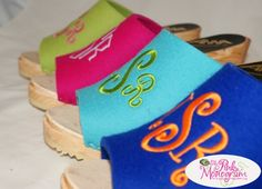 The Pink Monogram High Heel Monogrammed Clogs- Create Your Own Pair Of Shoes! At The Pink Monogram