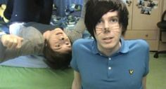 Having a bit of a cry knowing the first Phil Is Not On Fire was filmed one day after Dan and Phil met for the first time in person :')