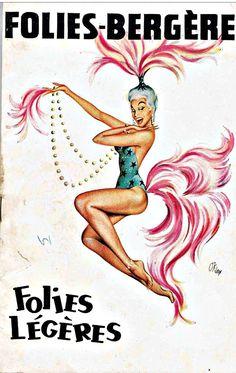 Art Deco Posters, Vintage Posters, Vintage Art, Cabaret, Folies Bergeres, Vintage Burlesque, Vintage Advertisements, Ads, Advertising Poster