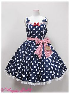 Angelic Pretty  French Polkadot JSK (Navy)