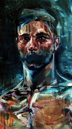 "colourful & expressive strokes  Saatchi Online Artist: Andrew Salgado; Oil, 2011, Painting ""Anxious"""