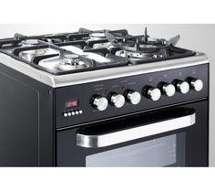 KENWOOD CK232DFA Dual Fuel Cooker - Black Dual Fuel Cooker, Easy Cooking, Wok, Oven, Household, Kitchen Appliances, Black, Diy Kitchen Appliances, Black People