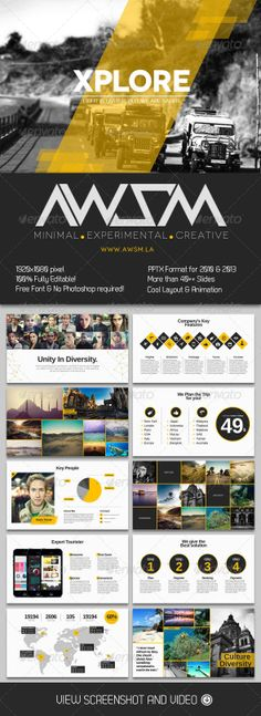 Xplore Magazine Powerpoint Presentation - Miscellaneous Powerpoint Templates