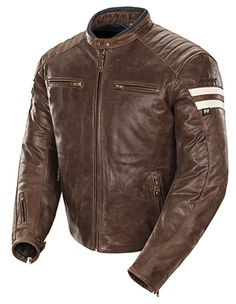 2015 Joe Rocket Classic '92 Brown Leather Motorcycle Jacket Street
