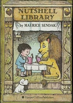 """""""Nutshell Library"""", Maurice Sendak 1962.  Includes the titles """"Alligators All Around"""", """"Chicken Soup with Rice"""", """"One Was Johnny"""", and """"Pierre"""". (Titles available separately in library and paperback editions.)"""