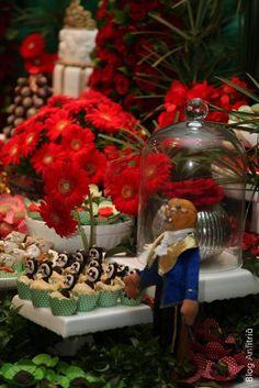 decoração de festa a bela e a fera-26 como receber em casa decoração mesas