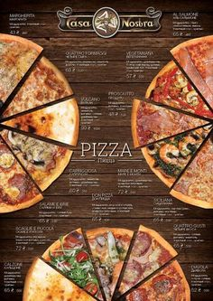 Pizza menu on Behance More