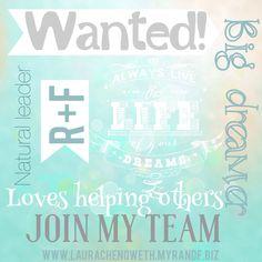 Rodan and fields! Join my team, work at home, make your own schedule, love your skin! swilliams9.myrandf.biz
