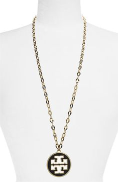 Tory Burch Logo Pendant Necklace | Nordstrom