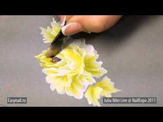 One stroke flowers - YouTube