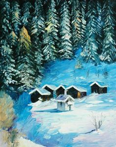 """""""Winter Forest"""" by Leonid Afremov"""