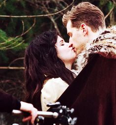 """Ginnifer Goodwin films scenes with her costar/fiance Josh Dallas on the set of """"Once Upon A Time"""" on Nov. 26, 2013 in Vancouver."""