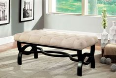 CM-BN6017S SMALL BENCH RAVALLI COLLECTION  • Transitional Style • Solid Wood