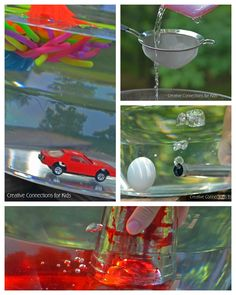 Water Science with Everyday Objects - cool off and learn too during this summer heatwave  - Creative Connections for Kids