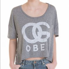 OBEY Grey Tee OBEY Grey Tee Size XS . Worn only twice! Obey Tops