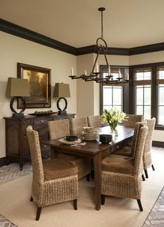 bleeker beige bm dark trim - Dining Room Paint Colors Dark Wood Trim