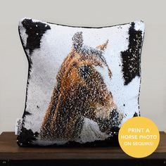 GET THIS BEAUTIFUL HANDMADE REVERSIBLE SEQUINS PILLOW WITH YOUR FAVORITE PHOTO TO SURPRISE YOUR LOVED ONES! Put Your Pup's Photo on A Reversible Sequins Cushion (Best Valentine's Gift).